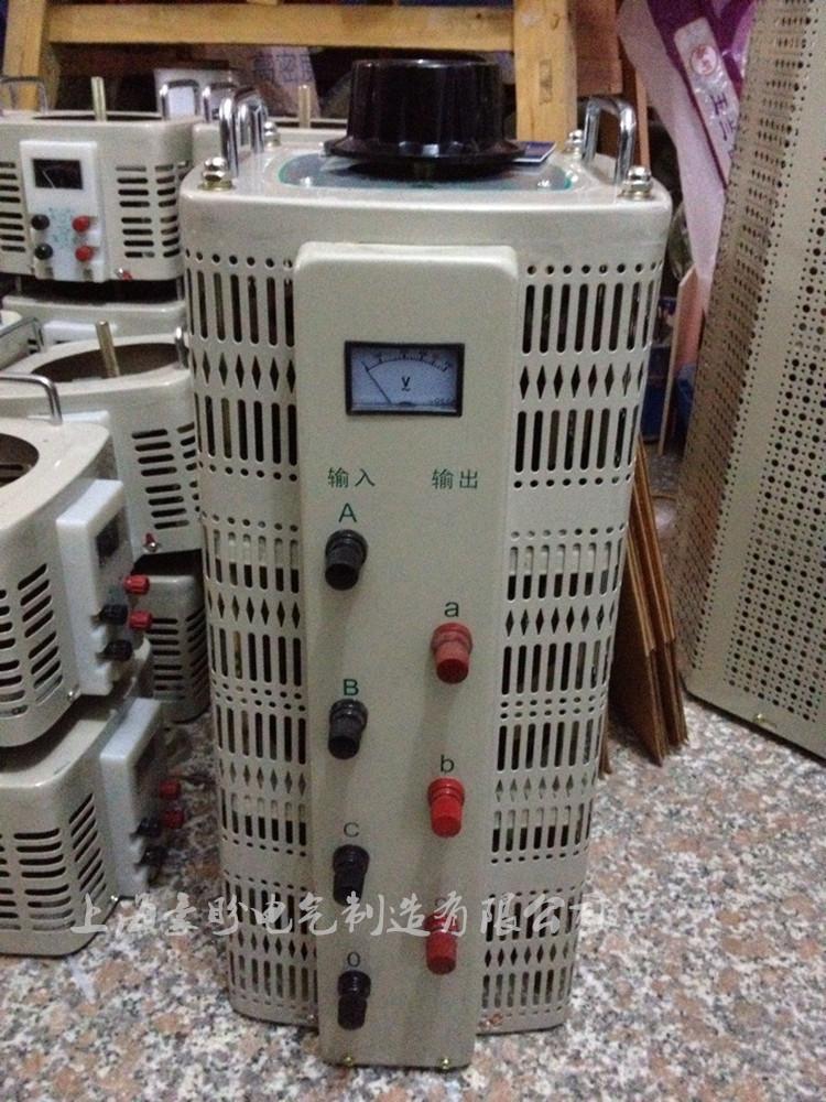 เครื่องปรับความดัน 15KW ทั้งหมด 3 เฟสหม้อแปลงขดลวดทองแดงที่สามารถปรับแรงดันของ TSGC2-15KVA 0-430V450V460