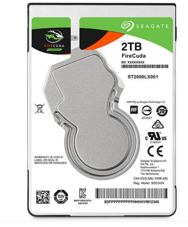 Die post Seagate/ Seagate ST2000LX0012.5 Zoll notebook Hybrid - Solid State disk 2 pa...