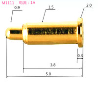 Pogopin spring thimble smart Watch Bracelet special waterproof charging pin round pin torsion spring needle needle