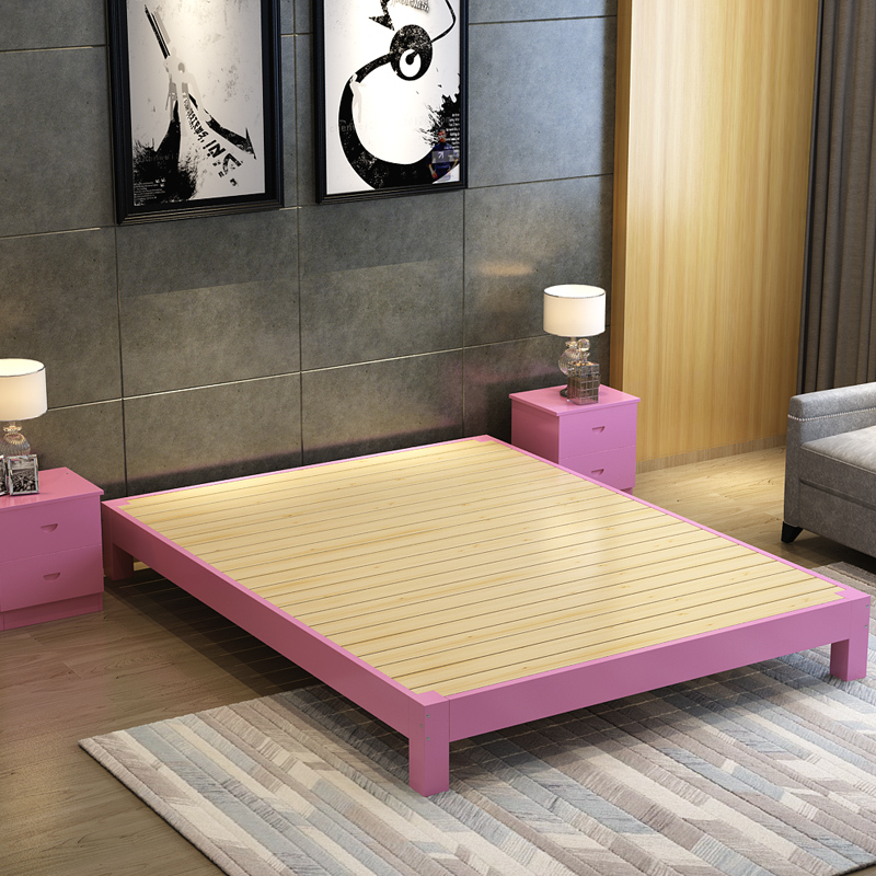 Pine wood single rooms 1.5 double beds and 1.2 tatami bed 1.8 meters without simple bedstead bed