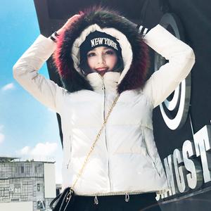 冬装新款韩国大毛领羽绒服女短款正品加厚白色鸭绒韩版修身外套潮