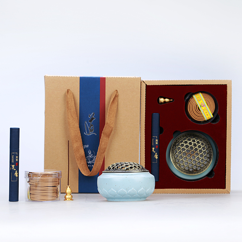 разводья льда покоробленный Ароматерапия печь с ручной керамики Будда старинного сплава ладан фимиам сандалового дерева ладан кадильницу в подарок