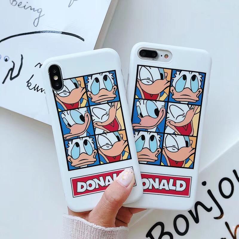 iphoneX手机壳7plus苹果8p唐老鸭6sp创意卡通6s防摔7软壳硅胶套女