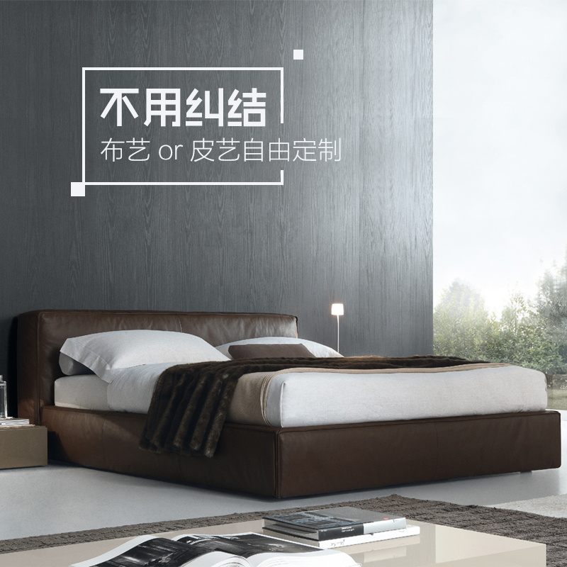 Washable fabric bed 1.5 meters double bed apartment layout 1.8 Nordic master storage bed Zhuwo simple modern cloth bed