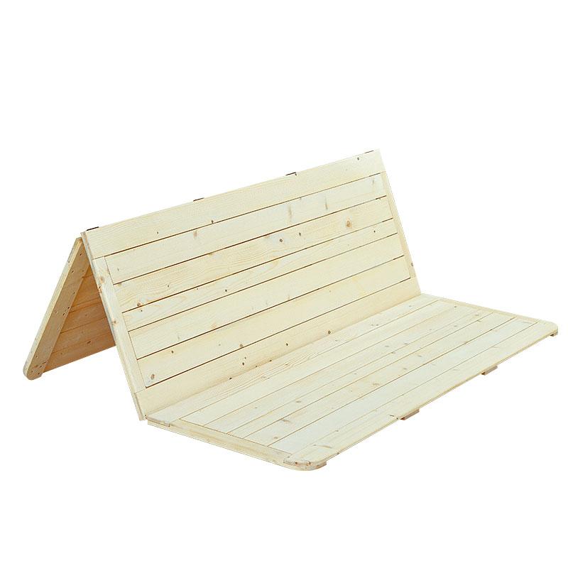 жесткий матрас кровати Кровать 1,8 метров 1,5 метров жесткий матрас двухместный складные деревянные кровать одноместный 松木板定