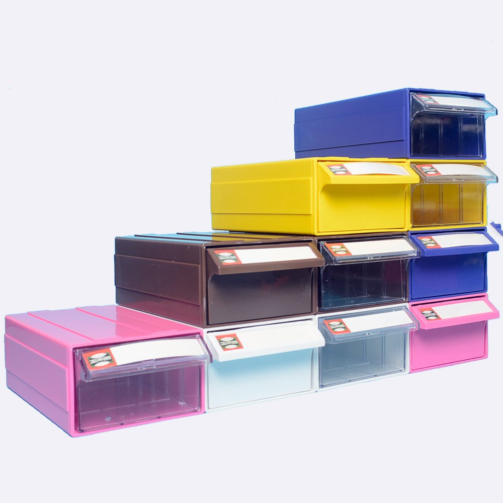 Transparent parts box, desktop storage cabinet, packing table classification accessories box, small drawer wall drawer type