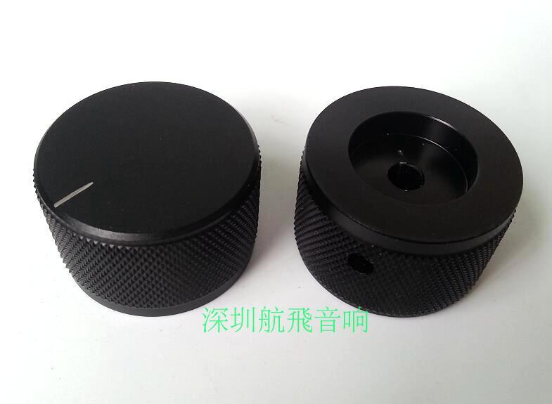 ลูกบิดอลูมิเนียมแข็ง Potentiometers knobs เสียงแอมป์ Knurled 35x22mm 6 รูลูกบิด