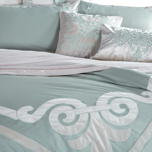 Pure Tencel embroidery European linen quilt cool silky naked bed double four piece Evelyn