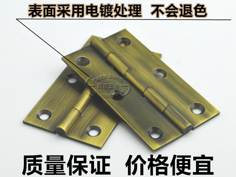 El núcleo sólido de cobre cobre cobre bisagra bisagra bisagra de acero inoxidable de muebles de madera de pequeñas bisagras bisagras de cobre 3,5 pulgadas / un