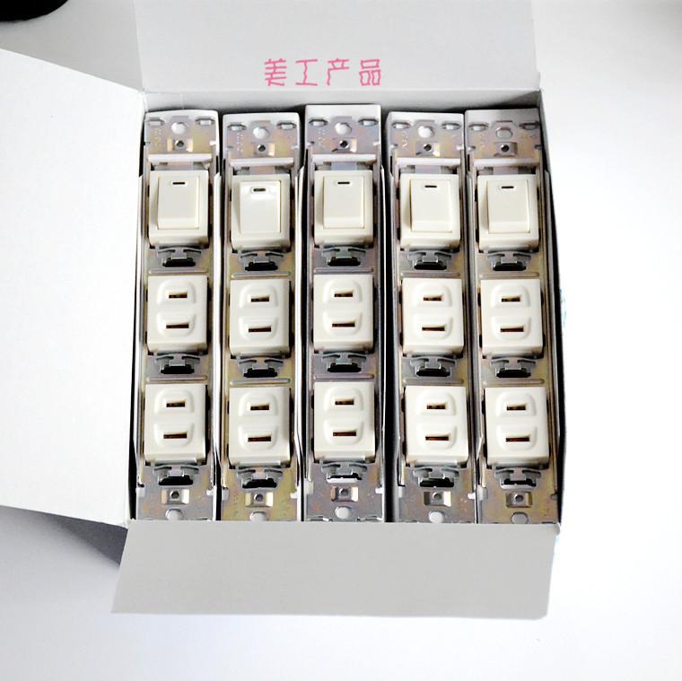matsushita panasonic sokkel med skift WCF2113W15A125V importeret fra japan.