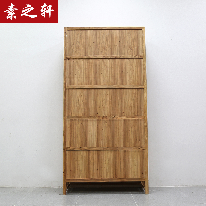 In the Xuan old elm wood lockers Shelf Bookcase simple minimalist modern Chinese style furniture creative bookshelf
