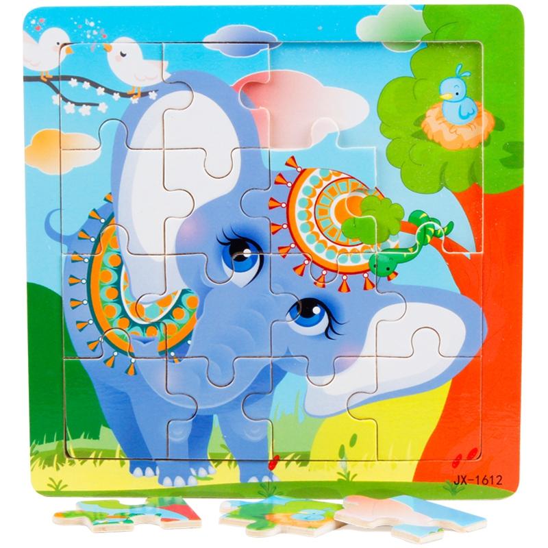 16 peças de quebra - cabeça de Gato e rato do bebê crianças menina Menino brinquedo educativo de inteligência antes de 2 a 4 Anos