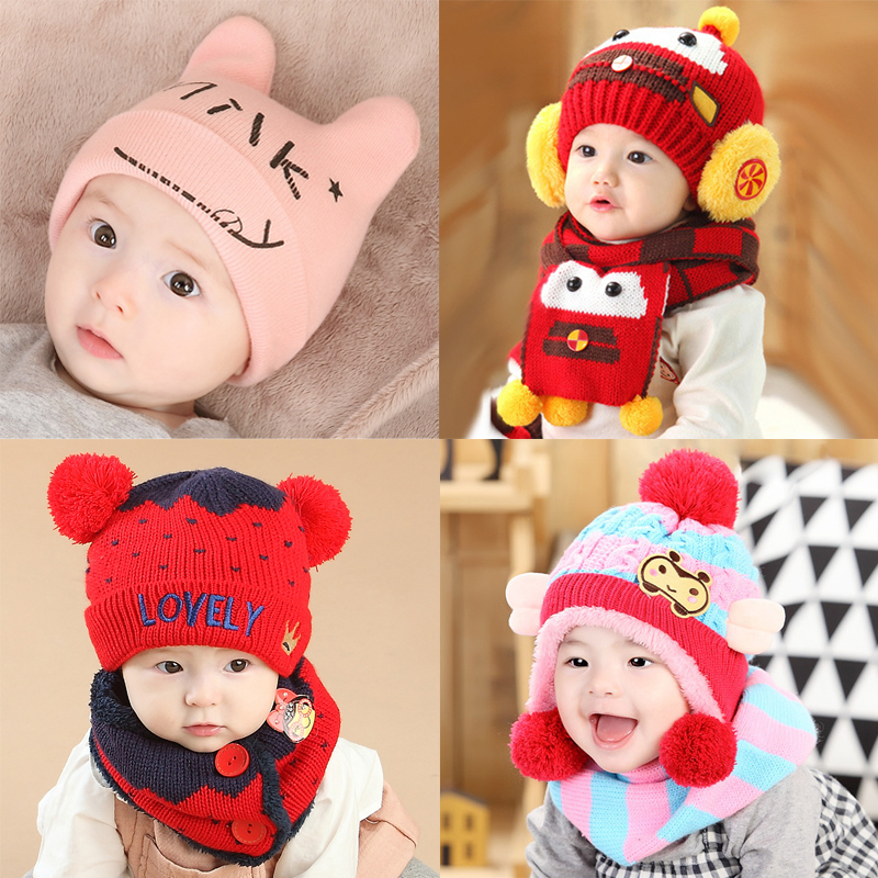 韩版冬天6-12个月婴儿帽子春秋1岁男童女宝宝公主2秋冬0冬季3可爱