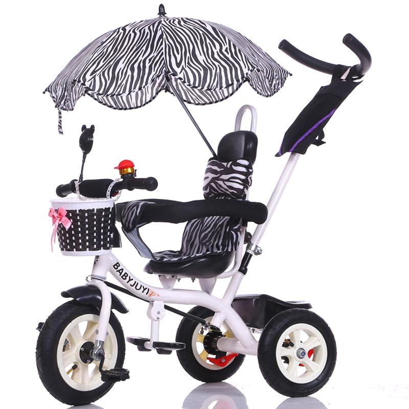 Importado de pequeño triciclo cochecito de bebé con sombrillas de bicicleta