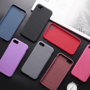 ins纯色iPhoneX手机壳硅胶薄软套情侣8plus磨砂男女全包7苹果10x