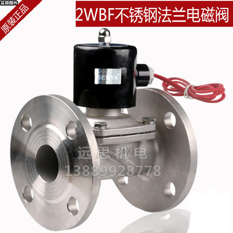 304 stainless steel flange solenoid valve normally closed valve 2W250-25BFDN25DN40DN50BF