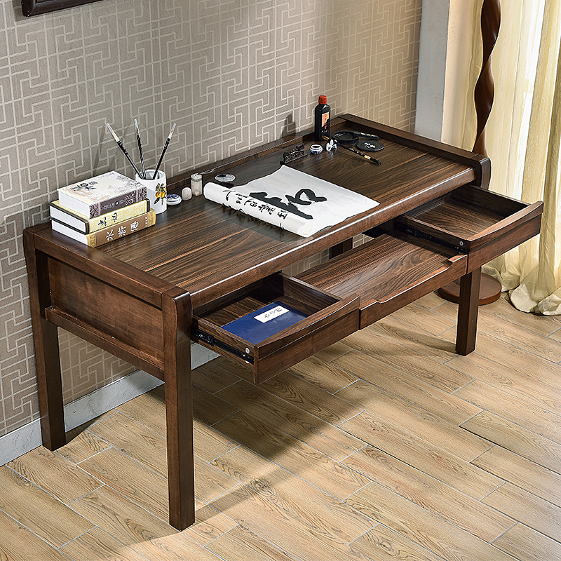 Chinese wood desk desktop home computer desk desk modern minimalist boss desk desk 1.5 meters