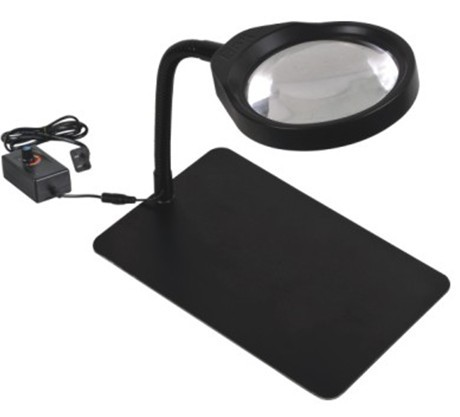 Mobile phone repair desktop folder type desktop magnifier lamp 36 LED lamp with adjustable brightness 8 times