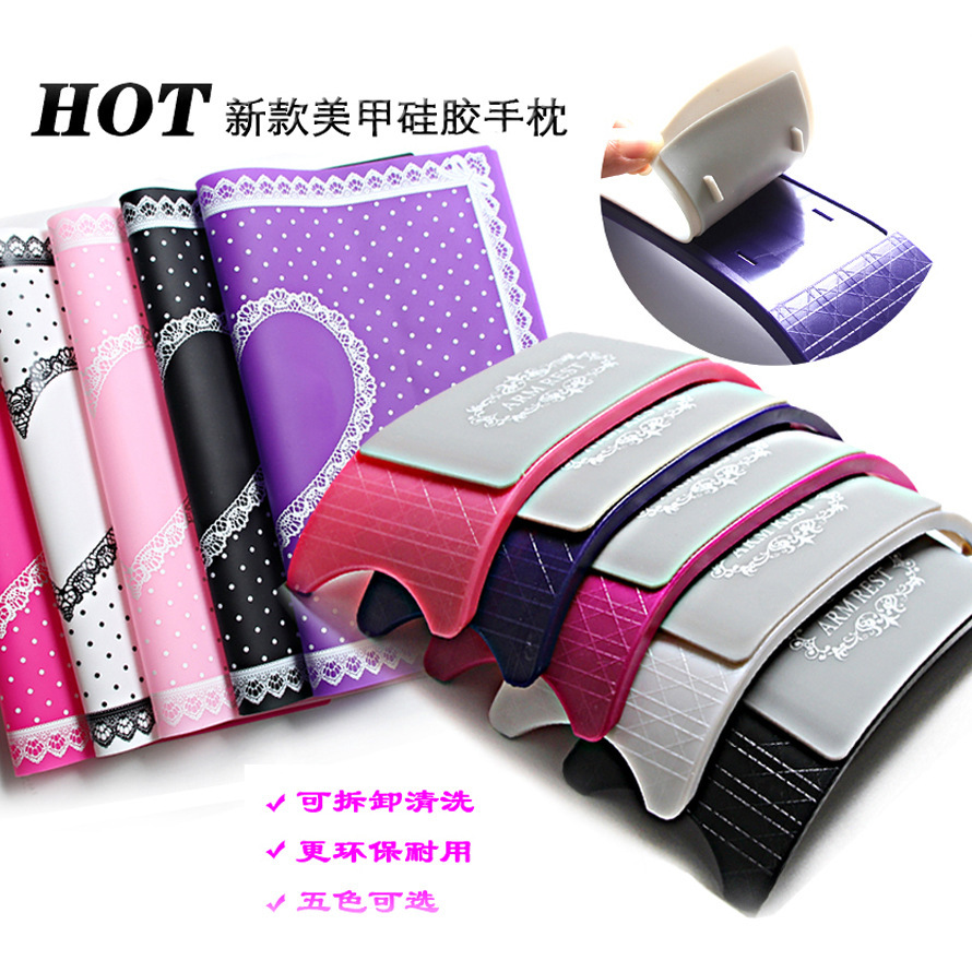 Manicure PVC silicone hand pillow, hand pad, Japanese cute hand pillow, scrub hand set, pillow tool set