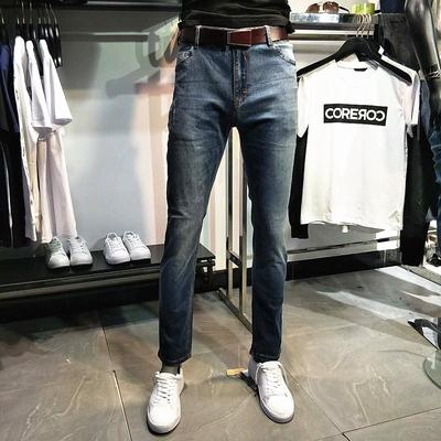 莫迪洛JJ品牌男装男士夏款薄款修身小脚小腿弹力含莱卡