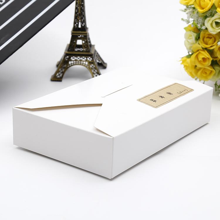 просто плик тип коледна кутия кутия с бисквити, сладки бели крафт хартии за печене на уест пойнт торта кутия кутия