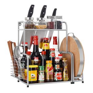 调味架子多层厨房家用置物架落地调料架放佐料酱油瓶收纳架不锈钢