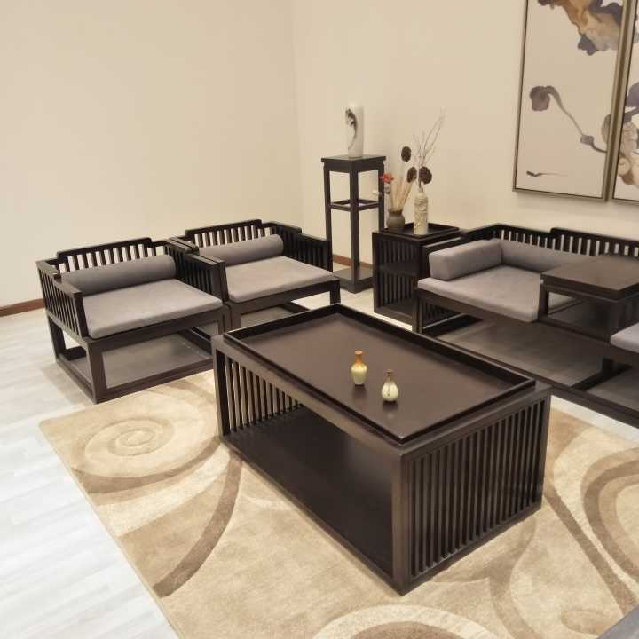 新中国の羅漢材のソファーベッド禪の教えにも少なからずグループシンプルリビングモデルハウスホテルの布で家具を注文する