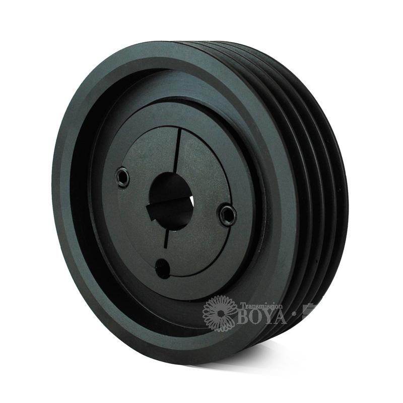 帛扬欧标V型皮带轮4槽SPB140-04锥套2517铸铁豆制品机器分切机