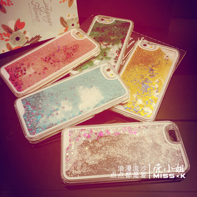 Apple iphone6 6plus mobile phone shell sand new fashionista liquid 4S 5S mobile phone protection shell of Japan and South Korea