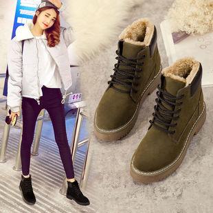 2019冬季新款保暖鞋子平底学生韩版潮流雪地靴女款短靴加绒女靴子