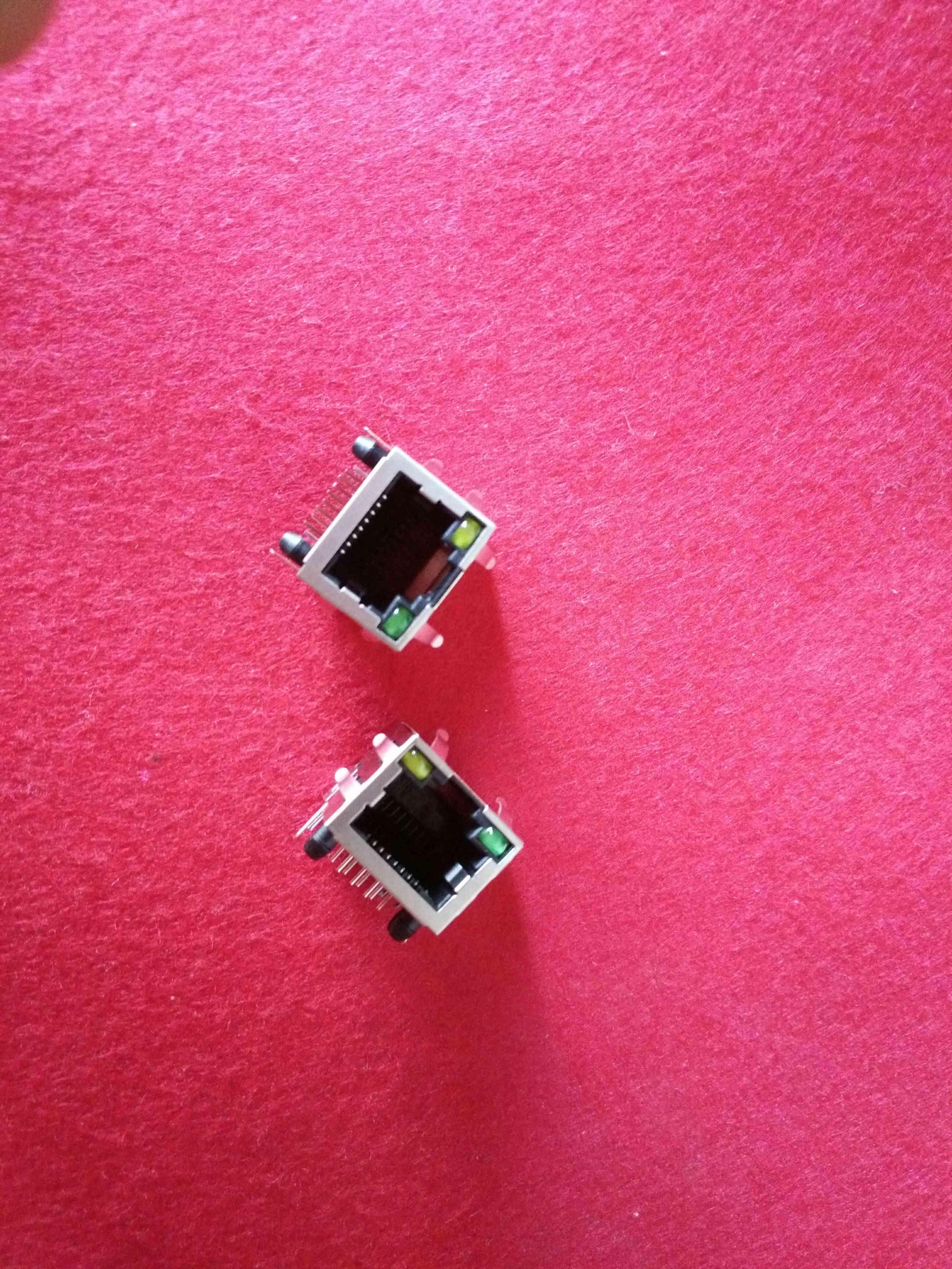 La Rete rj45 presa l'interfaccia della Rete con la testa a posto 8P8C di Cristallo con scudo con la lampada.