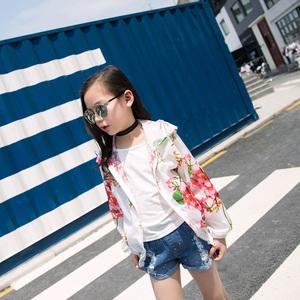 女童夏季防晒衣韩版透气超薄外套小女孩洋气连帽外穿空调衫防晒服