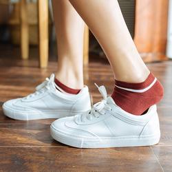 5双袜子女士春季新款船袜韩国学院风个性潮流学生低帮吸汗短筒袜
