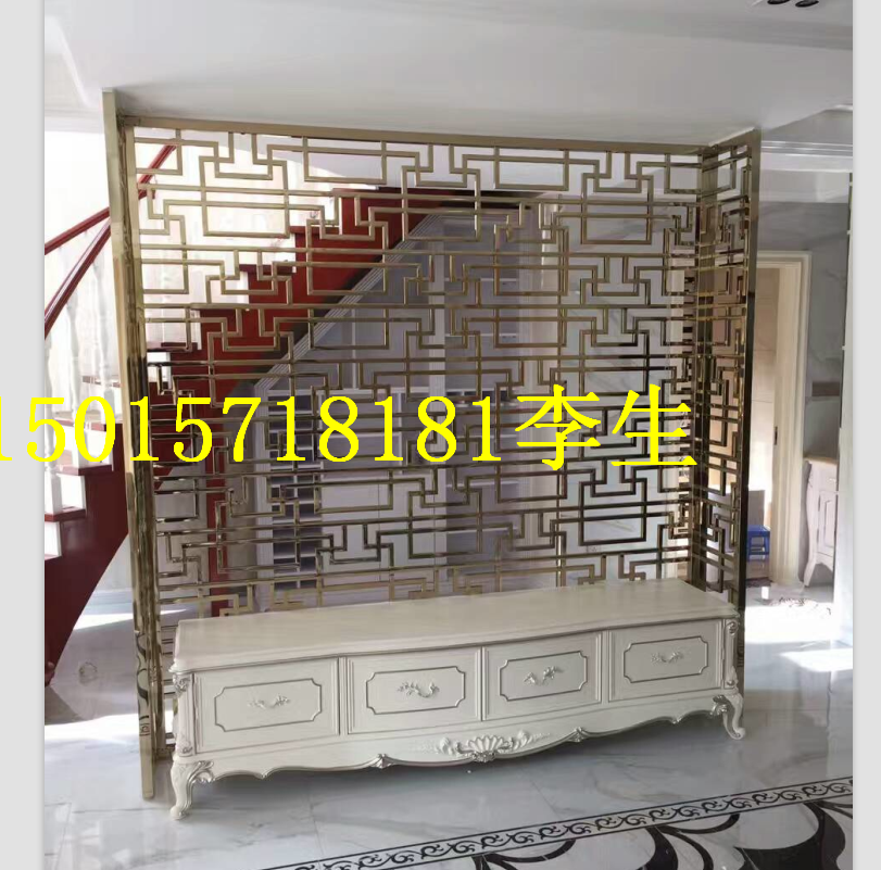 Hotel metal screen custom stainless steel screen partition of laser carving inside the living room a custom