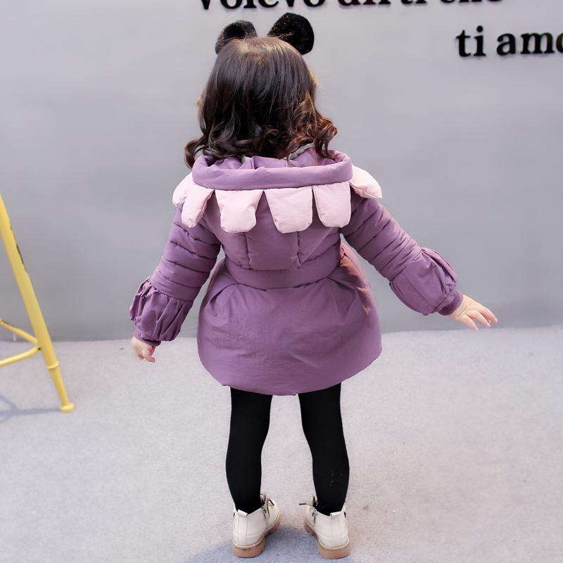 1婴幼儿棉衣2017新款2宝宝羽绒棉服3女童加厚外套4岁儿童冬季棉袄