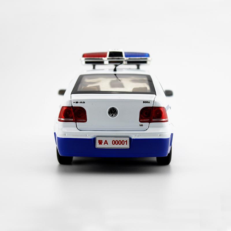 Xưởng chính phẩm 118 FAW popular xe cảnh sát mới BORA Tĩnh hợp mô hình mô phỏng xe thành phẩm