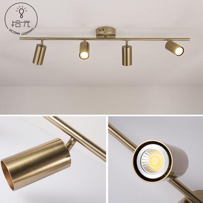 北欧后现代明装LED天花单灯背景墙筒灯家用服装店客厅轨道小射灯