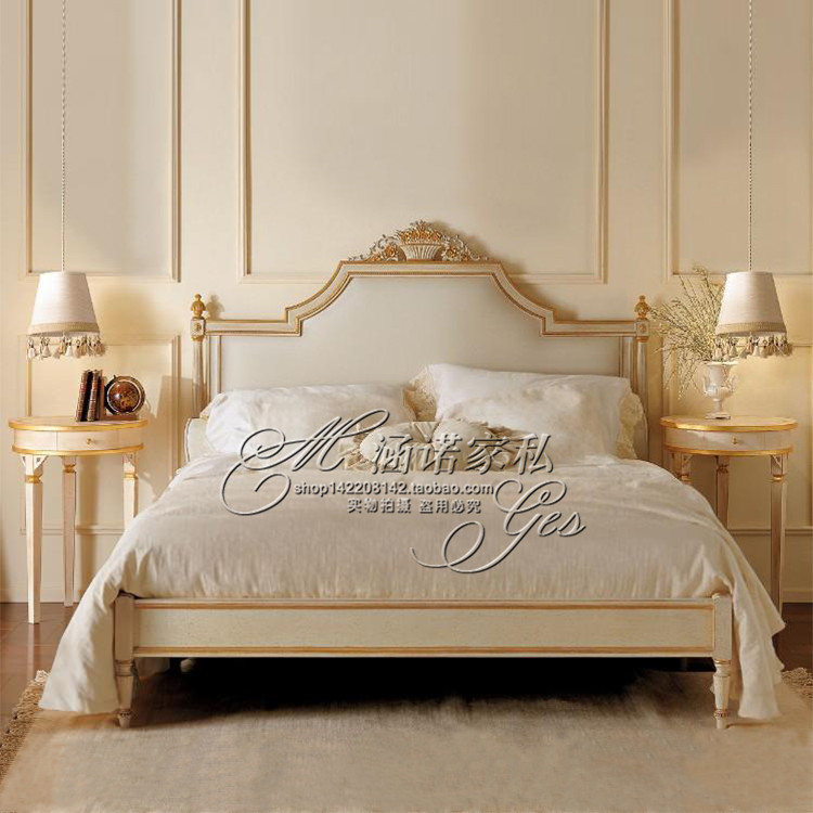 American wood carved bed 1.8 meters double bed European neo classical princess bed bed Jane wedding bed bedroom furniture