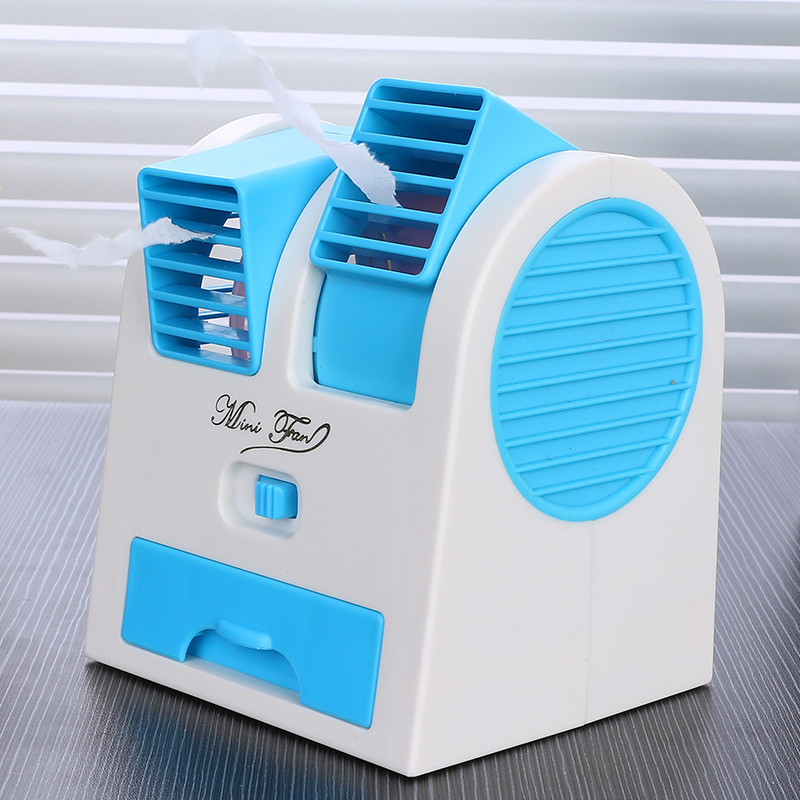 Mini fan USB charging plug small portable desktop office air conditioning student dormitory bed table