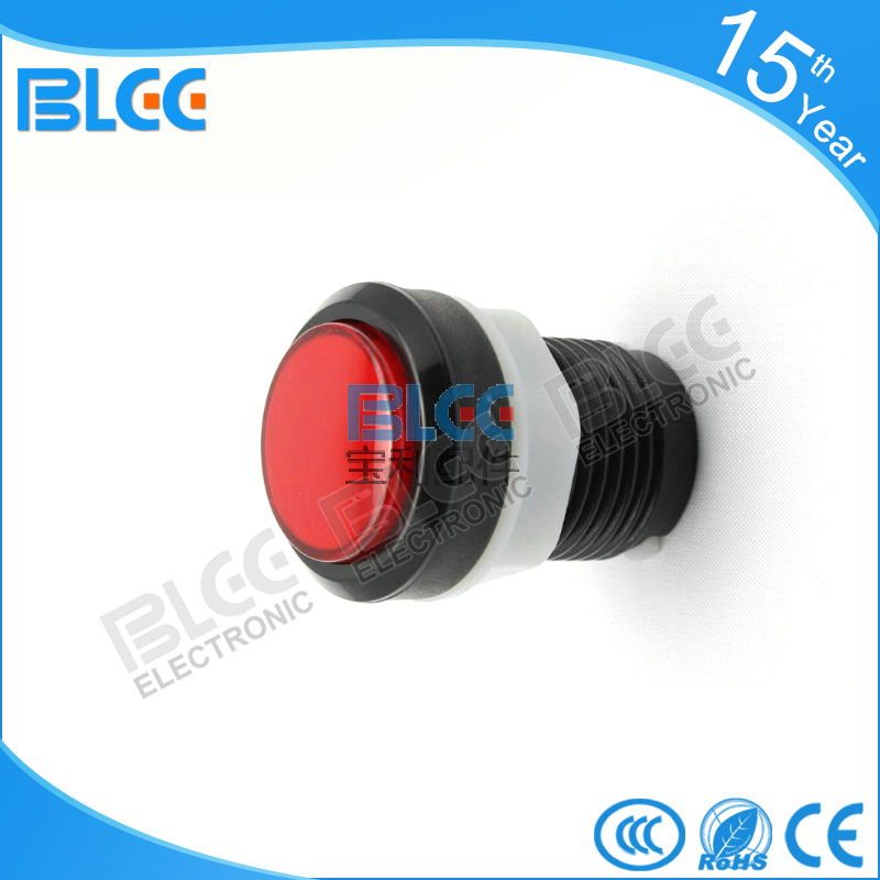 BL-33 # เครื่องเกมเกมปุ่มกลมสีดำขอบกับไฟอุปกรณ์เสริมเครื่องเกมคอนโซลปุ่มเพื่อสลับเพลง .