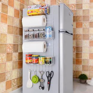 冰箱挂架侧壁挂架厨房置物架挂件免打孔调味调料架多层架子收纳架
