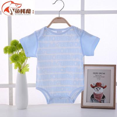 宝宝夏装包屁衣短袖夏季薄款婴儿连体衣服纯棉三角爬服新生儿