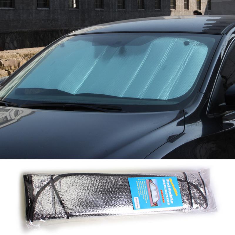 Foglio di Alluminio di Automobili parasole in Auto, prima e dopo il piatto e l'Isolamento termico il parasole.