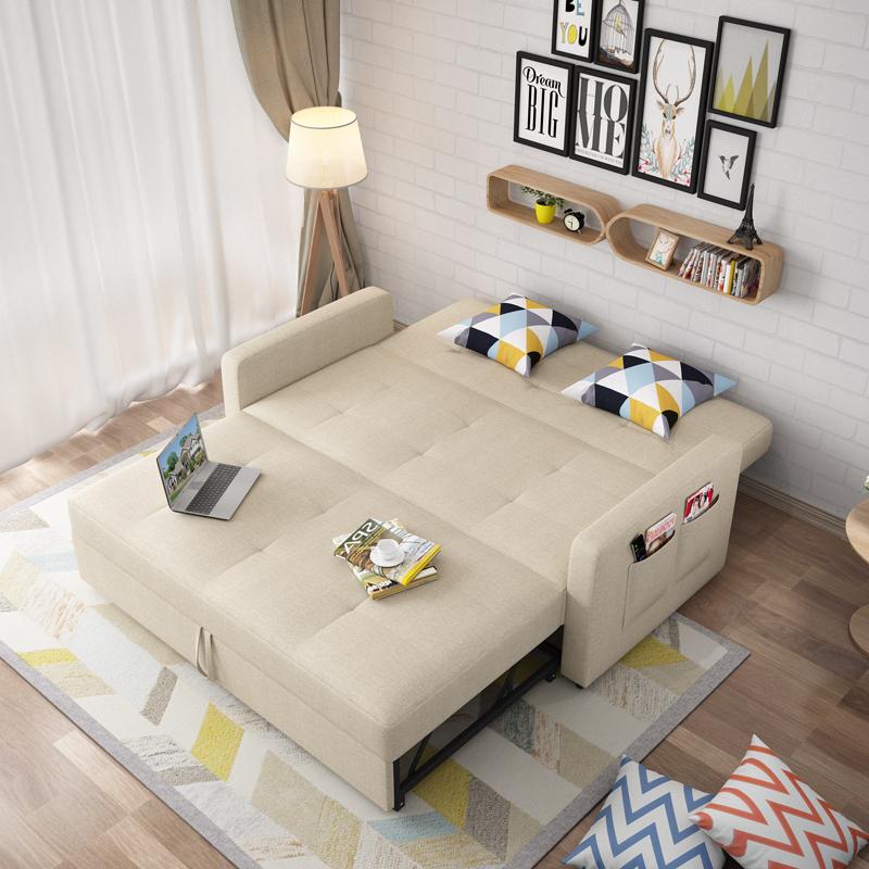 Το μικρό μέγεθος του 1,8 πτυσσόμενο καναπέ - κρεβάτι στο σαλόνι της πολυλειτουργικής 1,5 ύφασμα ένταση 1.2 διπλής χρήσης διπλό περίπου 2 μέτρα