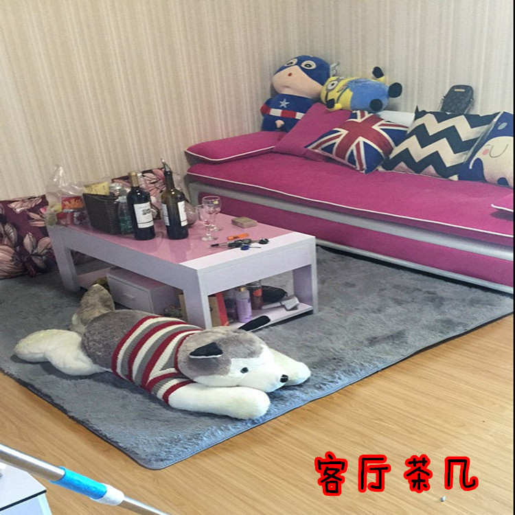 Clean the carpet in the living room bedroom door cleaning table balcony Mat Carpet mosaic tatami grey suede