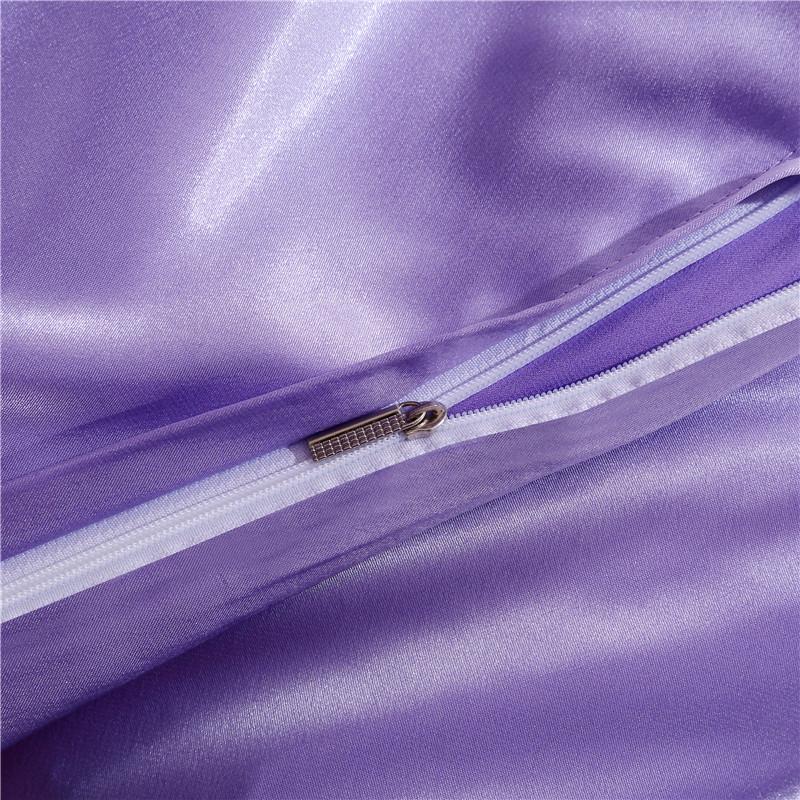 .8M muniti di una serie di Quattro Pezzi dello stesso Colore Le lenzuola di Raso di SETA una serie di Quattro Pezzi prodotti una serie di Quattro Pezzi di ghiaccio di letto 4 1