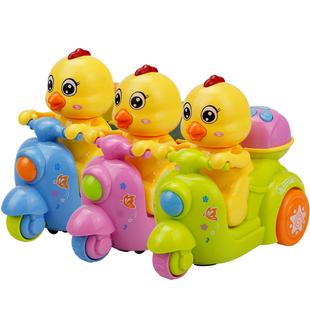 儿童玩具摩托车闪光宝宝玩具车唱歌婴儿童 电动向轮带音乐故事