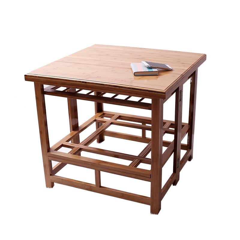 Le Pliage double de la table en bois de l'étagère la table pliante multifonction de chauffage domestique de la table de bureau