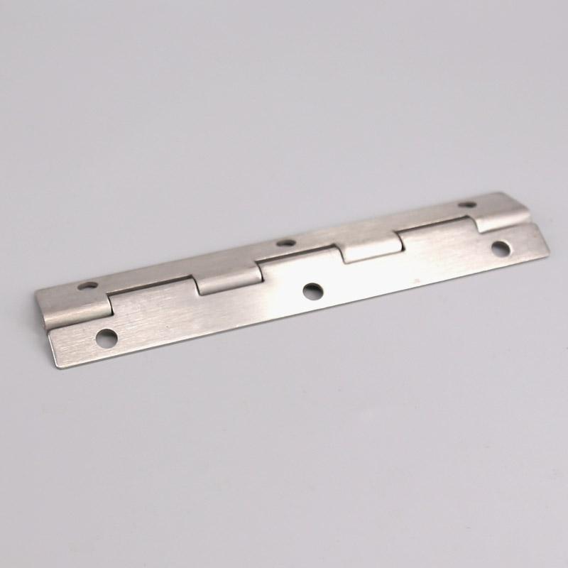 La extensión de la larga fila de sólidos de acero inoxidable de puerta bisagra bisagra de piano de alargar las bisagras bisagras se Box