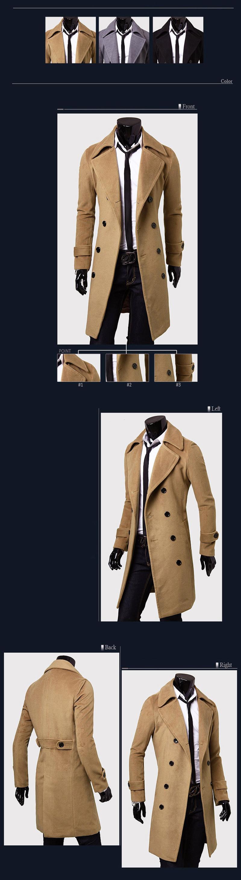 Áo khoác nam kiểu dáng dài